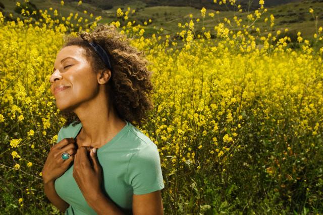 Happy Woman in Meadow